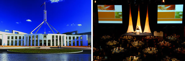 Congress 2015 dinner venue: The Great Hall of Parliament House